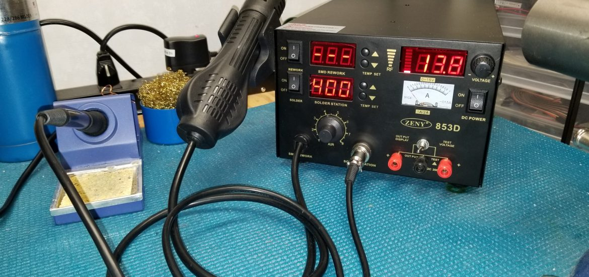 Review of the Zeny 853D – Solder and Hot Air Rework Station – New ...